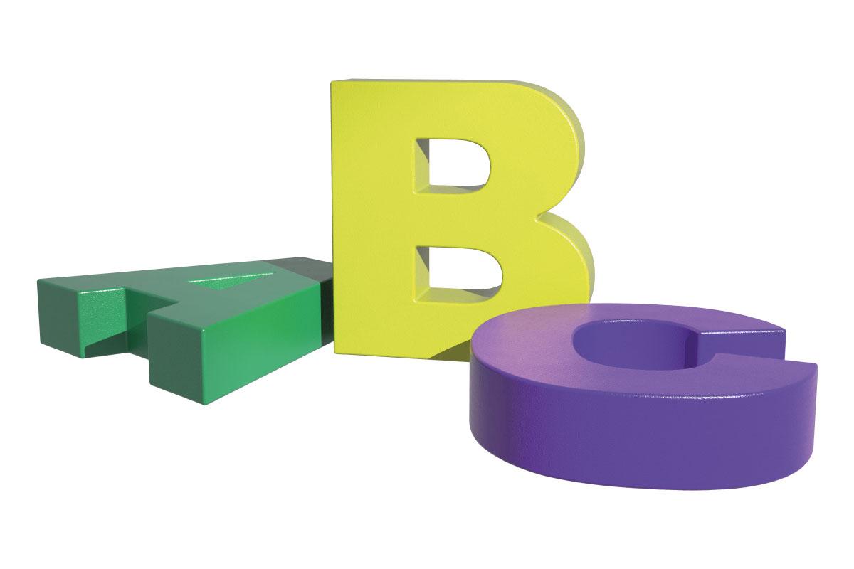 cubic letter möbel