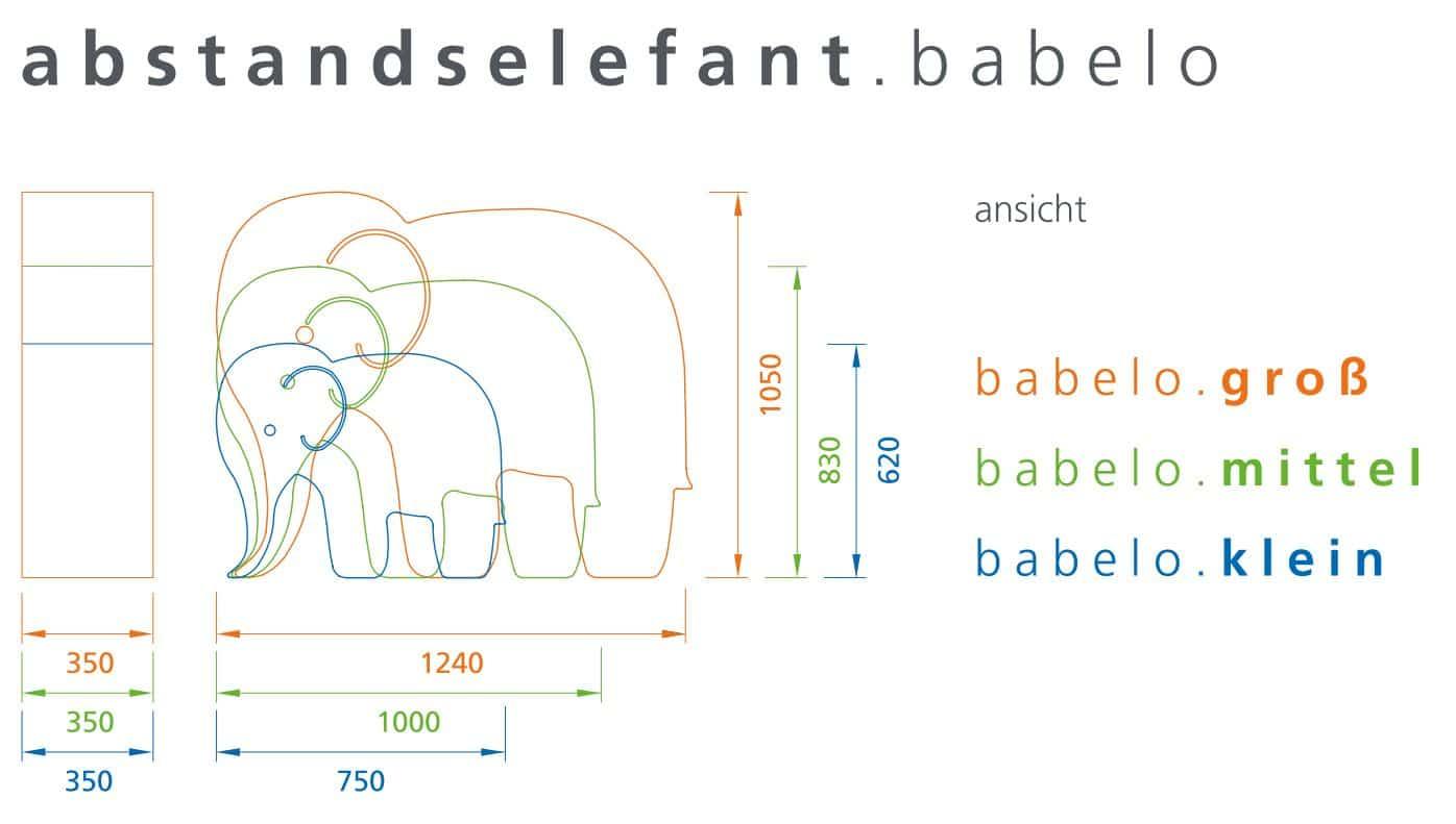 CUBIC babelo abstandselefant
